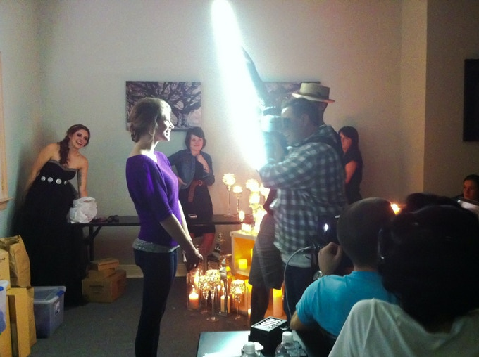 "Prototype in action - ""Kickstart My Art "" Intense Lighting Workshop with Mark Eric and Brandon O'Neal."