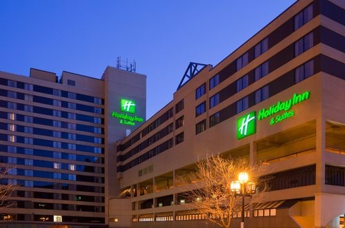 The Holiday Inn. $99 for single or double rate, $109 for triple, and $119 for quad. Free latel-night gaming space, and skywalk access to the DECC! Call at 218-722-1202
