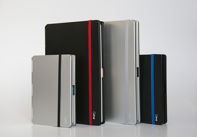 The different colored notebooks are for demo purposes only.