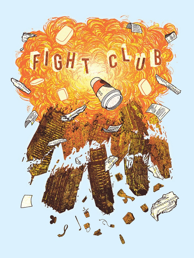 'Fight Club' poster by Kevin Tong