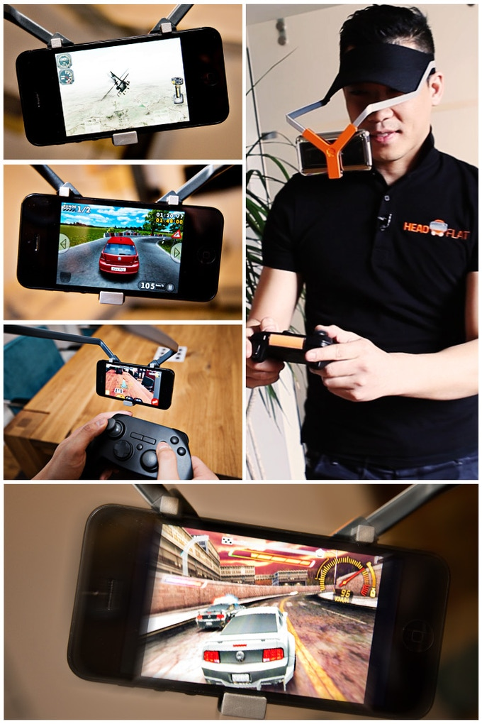 It´s still your smartphone. But there is a big difference with our headflat. Much more fun!