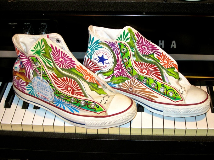 Hand-painted Converse I wore on the 2008 MTV Music Awards in Mexico City