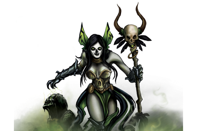 Necromancer hero artwork.