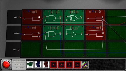 Wiring logic gates on the circuit board