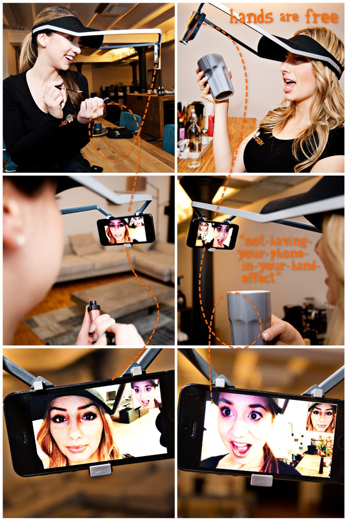 """""""Head-Chat"""" - brand new way of communication. You can use it with regular video chat apps"""