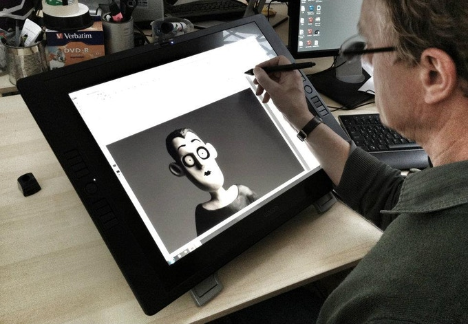 Daniel developing 2D animated facial expressions