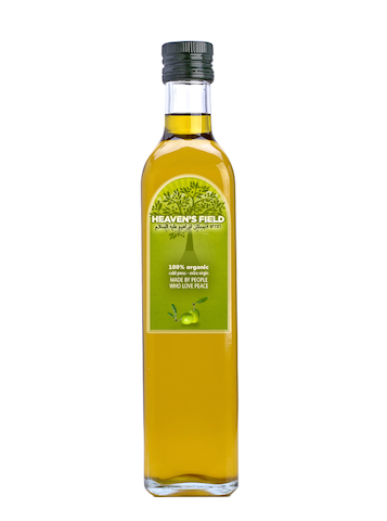 Heaven's Field olive oil, made by people who love peace.