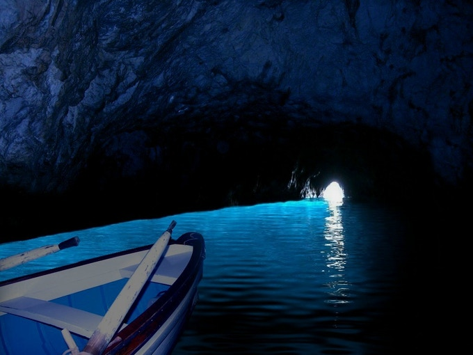 The Blue Grotto - From Anacapri the Dream