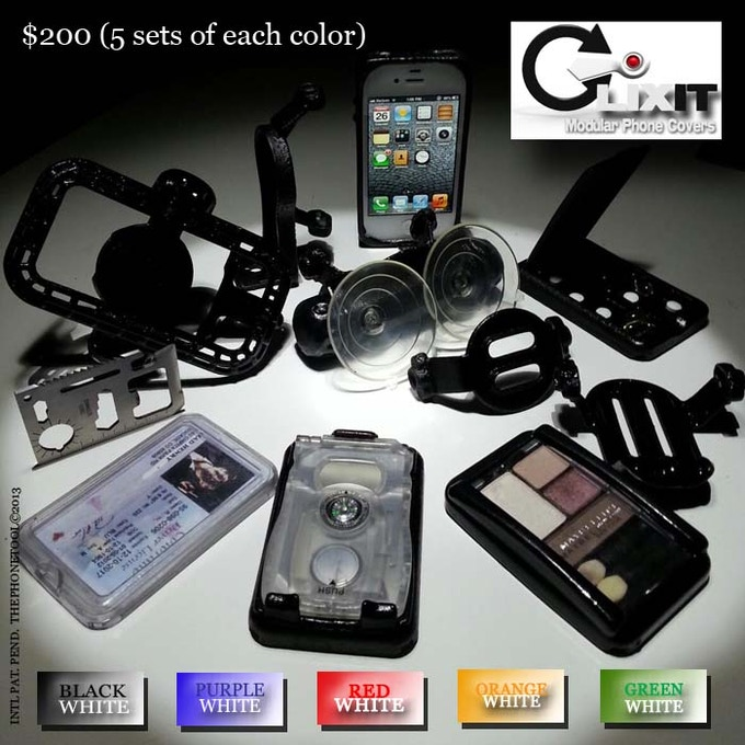 IPhone 4 - 5 Pack Everything Packages (5 Colors)