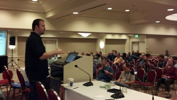 My presentation of the new OpenShot engine, at the Southern California Linux Expo, SCALE 11x.