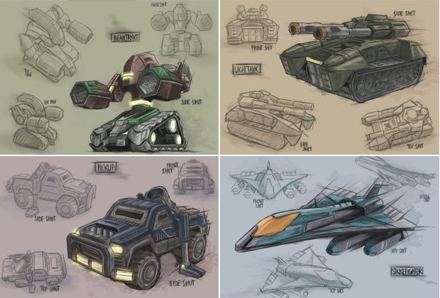 There will be around 40 different units and buildings in the game, many of which can be upgraded to obtain new capabilities