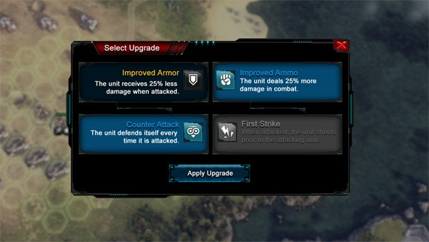 Upgrade units according to your personal needs and style of play!