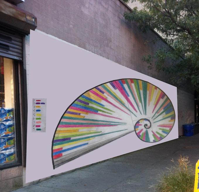 Rendering of proposed mural