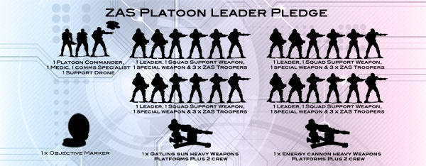 Platoon Leader pledge  including all achieved stretch goals