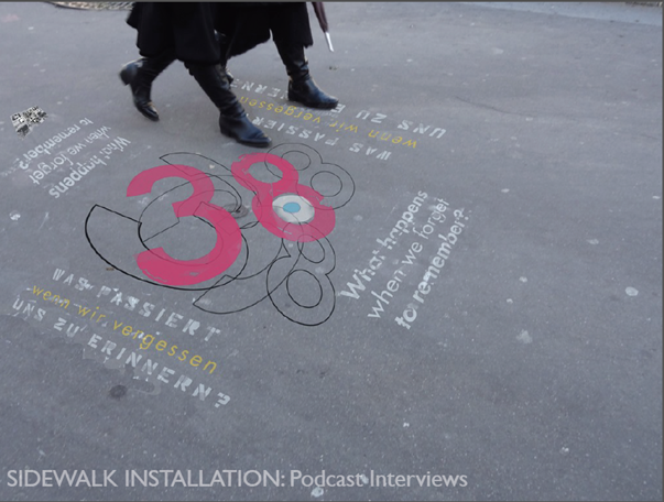 Design for one of the Memory Zone sidewalk markers