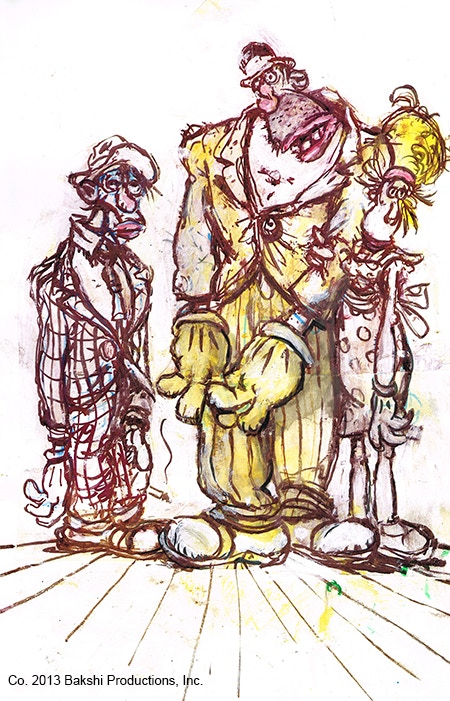 """Louie, Max, and Molly"" Original Character Designs by Ralph Bakshi"