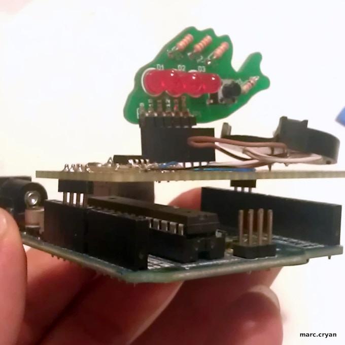 Blinky Fish with prototype Attiny Board and Arduino