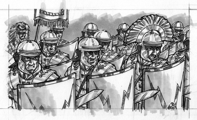Centurion legionaries of rome by fraser ronald kickstarter for Day office roma