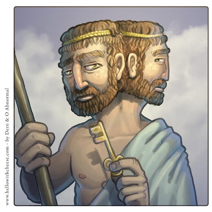 Janus has two faces