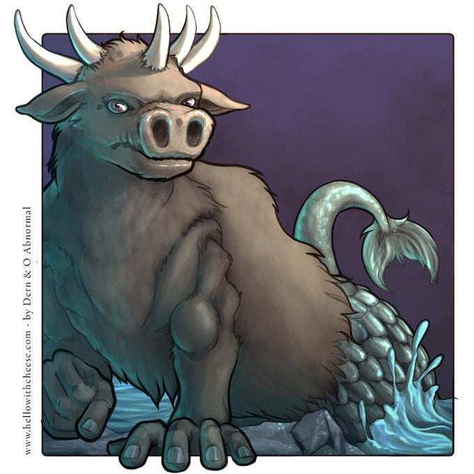 The Quinotaur has five horns