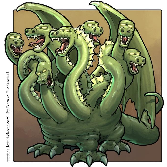 The Balaur has seven mouths