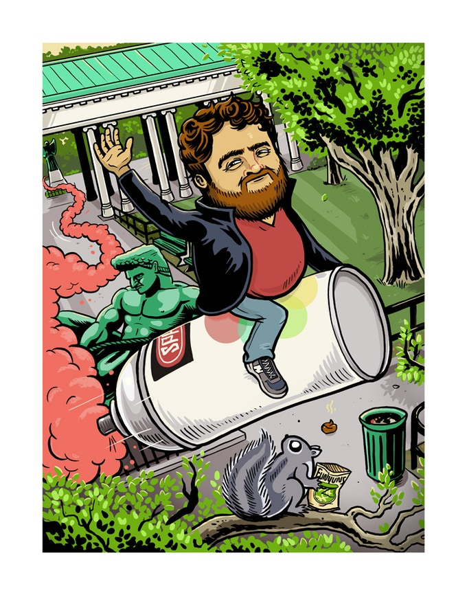Zach Galifianakis by Derek Deal