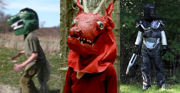 Previous costumed actors.