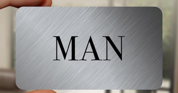 The GENTLEMAN card