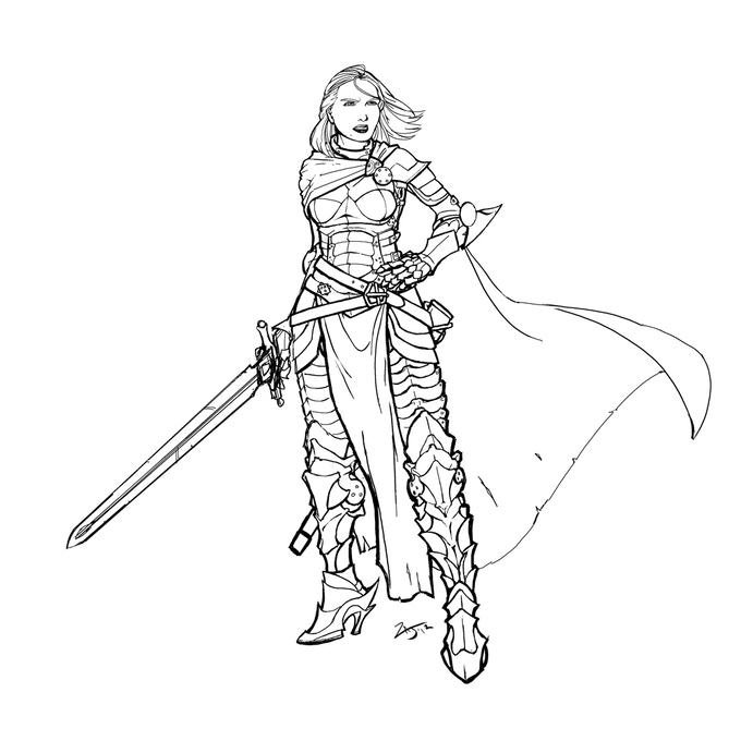 Warrior Woman by Zach Jaquays