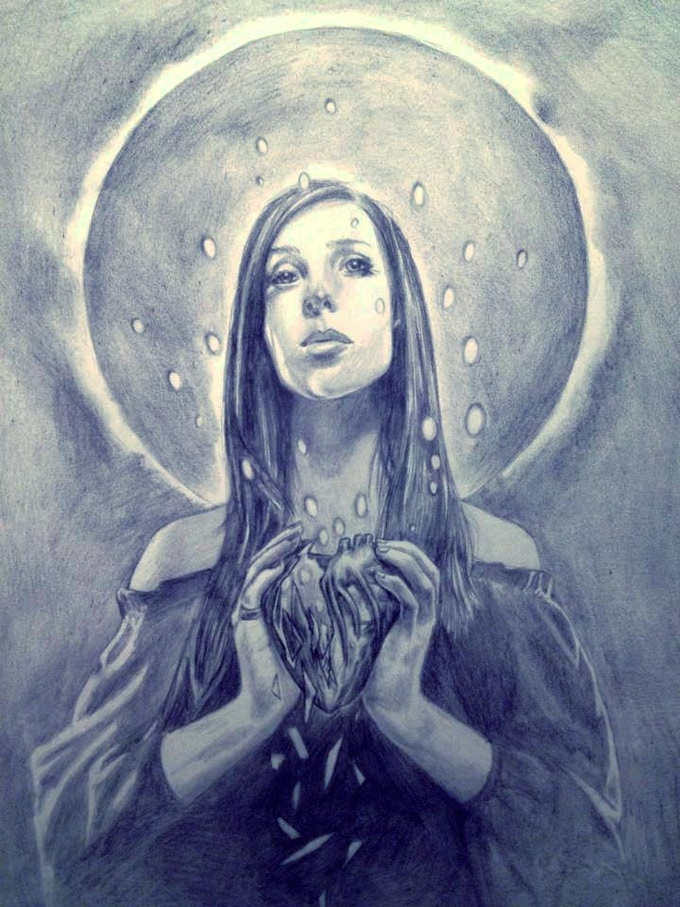 """Graphite Sketch of New Painting: 12""""x15"""""""