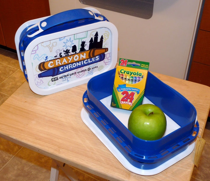 The Actual Crayon Chronicles Lunchbox (apples and crayons not included)