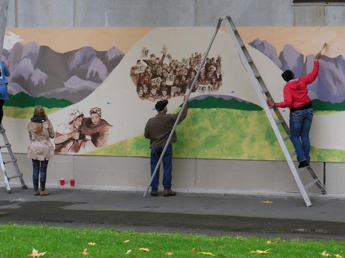 Auburn Veterans Mural Phase 2 By Skee Goforth Kickstarter