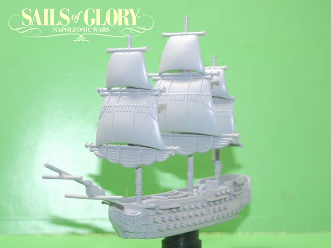 The prototype of HMS Victory (Not final).