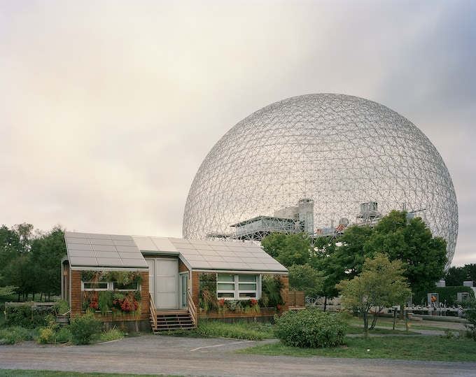 """Montreal 1967 World's Fair, """"Man and His World,"""" Buckminster Fuller's Geodesic Dome With Solar Experimental House, 2012"""
