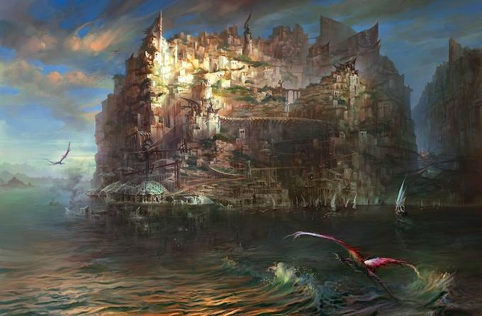 Sagus Cliffs at Dawn (by Chang Yuan)