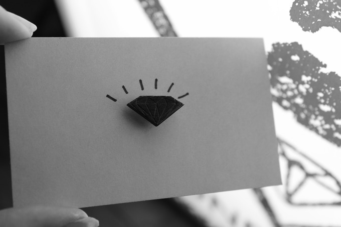 The Black Diamond Lapel Pin, a Kickstarter Exclusive Reward