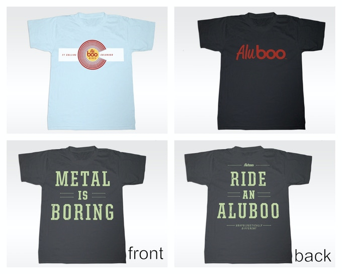 Aluboo tees (mockups–actual product may differ slightly)