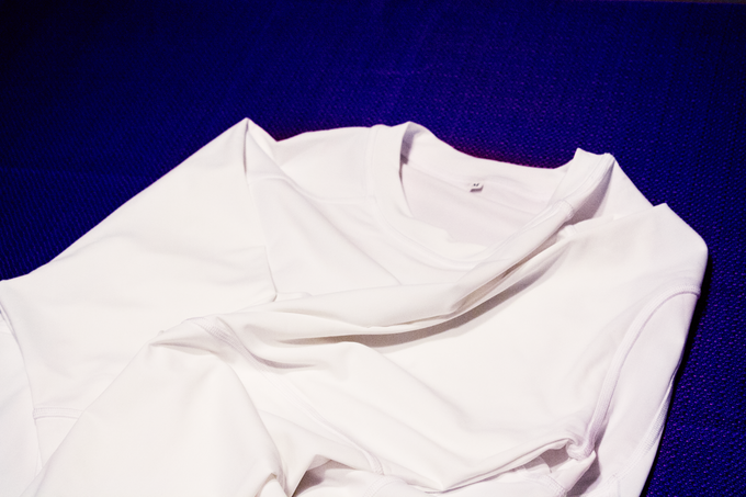 A recently sewn Radiate shirt.