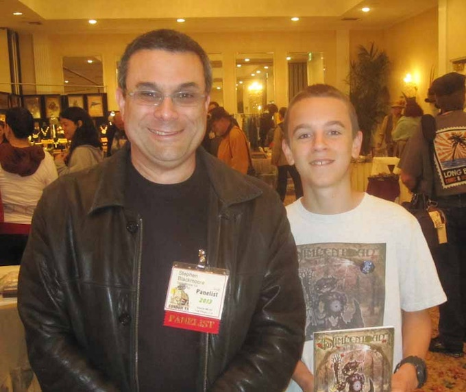 Josh with Dead Things author Stephen Blackmoore