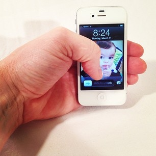 GRIP IT! Makes using your phone with one hand easy!