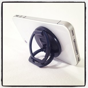 Grip N Stand swivels, so prop it up on any side. Makes it easy to read emails, listen to music