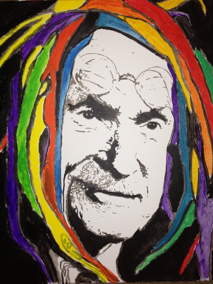 Pop art yourself custom portraits painted by hand by c barker carl jung done in a distorted fashion solutioingenieria Image collections