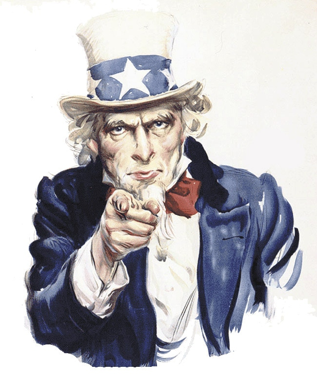 Uncle Sam and Pressgram... hey, that rhymes!