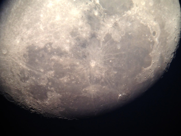 iPhone 5, Snapzoom, and a '64 Questar Telescope