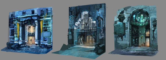 Concept art for shops in the towns of the Anglean Republic.