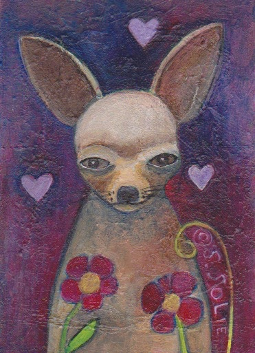 My funny Valentine. One of the paintings to be made into a 100 greeting cards.