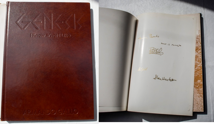 Leatherbound Edition with the Genesis Members' signatures printed in actual gold!