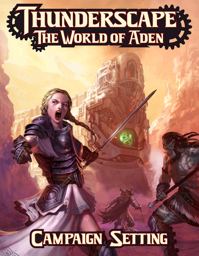Alastrina, a Knight of the Radiant Order, leads an attack on one of Urbana's Thunder Trains alongside her allies, Gudrun and Silak.