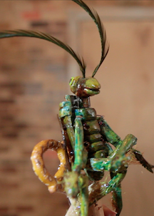 Each brainy bug is unique! This one's lounging on a fancy cork-&-pretzel chair.