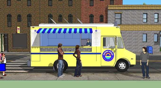 A rendering of what the truck might look like. Courtesy Rebecca Rusinow.